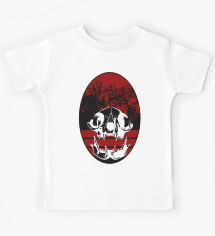 Cat Skull Shield Kids Tee
