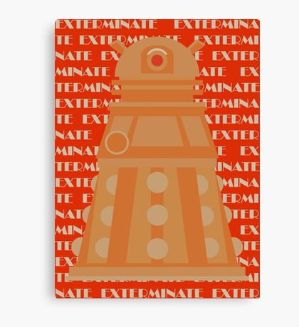 Exterminate Orange Canvas Print