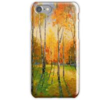 Sunset in the autumn fores iPhone Case/Skin