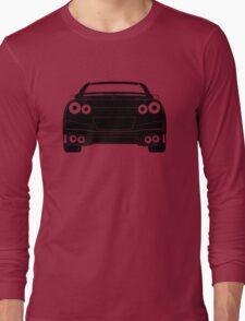 Rear Tail Light Tee / Sticker for R35 Nissan GTR enthusiasts - Black Long Sleeve T-Shirt