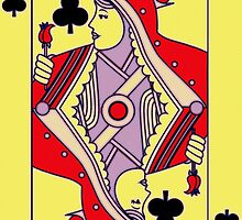 Queen of Clubs by Florian Rodarte