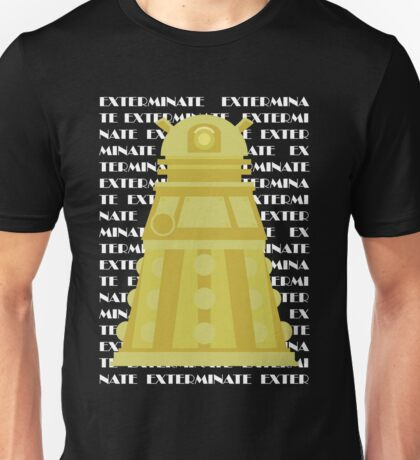 Exterminate Yellow Unisex T-Shirt