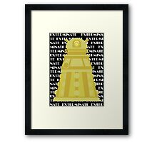 Exterminate Yellow Framed Print