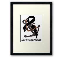 Nautical Themed Melanoma Ribbon Framed Print