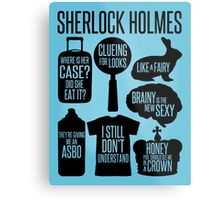 Sherlock Quotes Metal Print