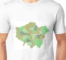 London Boroughs Map - Green Unisex T-Shirt