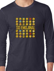 So Emojinal - Emoji Pattern Long Sleeve T-Shirt