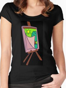 Painting Veil Canvas Women's Fitted Scoop T-Shirt