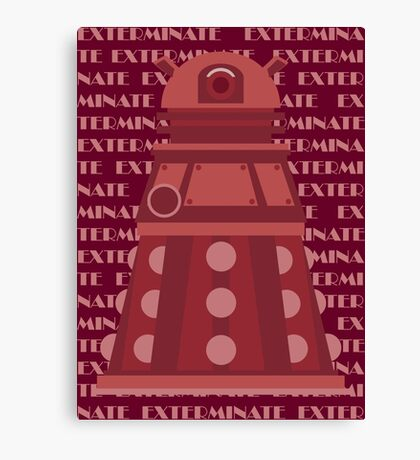 Exterminate Red Canvas Print