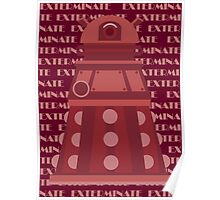 Exterminate Red Poster