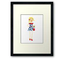 """Leyna"" paper doll girl vector Framed Print"