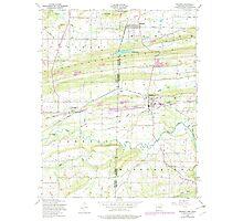 USGS TOPO Map Arkansas AR Hackett 258640 1948 24000 Photographic Print