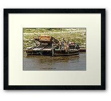 Gold Sluicing Boats Framed Print