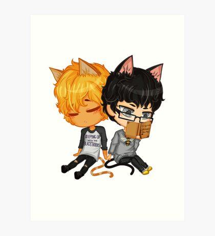 Kitty Chibi Art Print