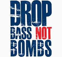 Drop Bass Not Bombs (dark blue/red)  Mens V-Neck T-Shirt
