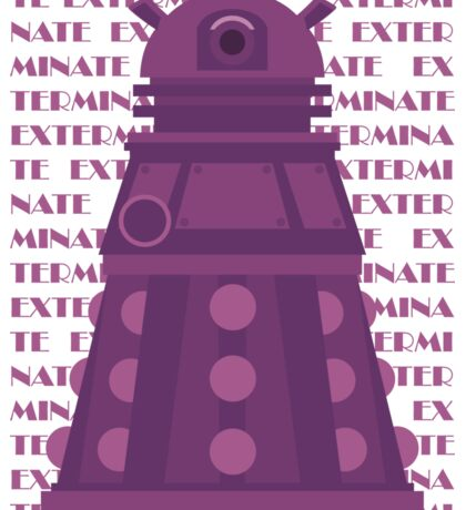 Exterminate Purple Sticker