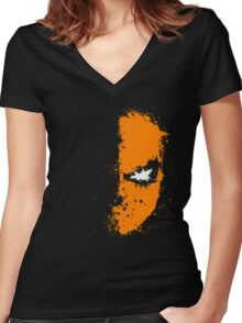 DS mask Women's Fitted V-Neck T-Shirt