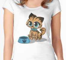 Feed Me :3 Women's Fitted Scoop T-Shirt
