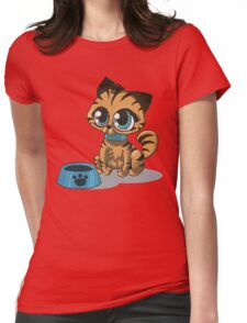 Feed Me :3 Womens Fitted T-Shirt