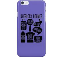 Sherlock Quotes iPhone Case/Skin