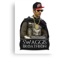 Swaggis Broatheon (Stannis Baratheon) swag game of thrones Canvas Print