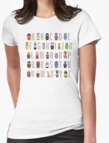 Muppet Alphabet Womens Fitted T-Shirt