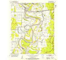 USGS TOPO Map Arkansas AR Garland 258548 1952 24000 Photographic Print