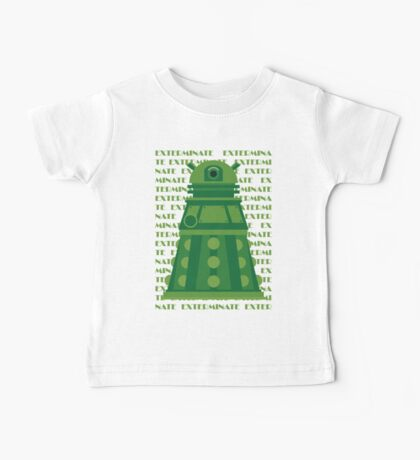 Exterminate Green Baby Tee