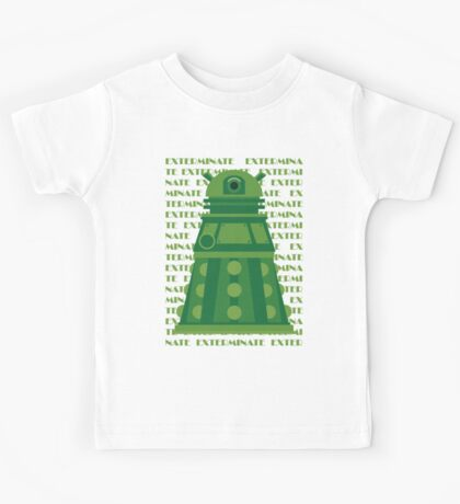 Exterminate Green Kids Tee