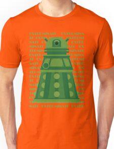Exterminate Green Unisex T-Shirt