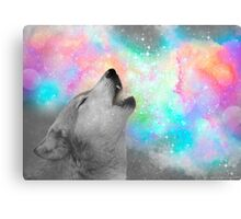 Breathing Dreams Like Air (Wolf Howl Abstract II: Gray) Canvas Print