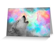 Breathing Dreams Like Air (Wolf Howl Abstract II: Gray) Greeting Card