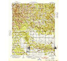 USGS TOPO Map Arkansas AR Lonoke 260151 1949 62500 Photographic Print