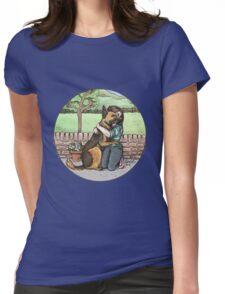 German Shepherd Hug Womens Fitted T-Shirt