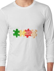 Food puzzle Long Sleeve T-Shirt