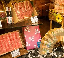 Butcher's window, Ningyocho by Glen O'Malley