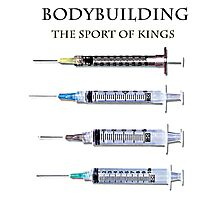 Bodybuilding the sport of kings Photographic Print