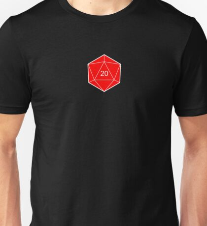 d20 Dice (Red) Unisex T-Shirt