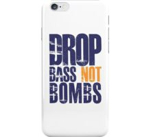 Drop Bass Not Bombs (violet/mustard)  iPhone Case/Skin