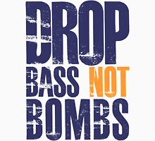 Drop Bass Not Bombs (violet/mustard)  Mens V-Neck T-Shirt