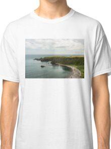 North Sea Greens - Emerald Water and Verdant Cliffs in Scotland UK Classic T-Shirt