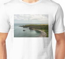 North Sea Greens - Emerald Water and Verdant Cliffs in Scotland UK Unisex T-Shirt