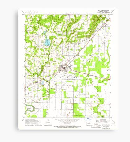 USGS TOPO Map Arkansas AR Bald Knob 257921 1965 24000 Canvas Print