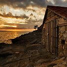 Cunski Beach at sunrise, Losinj Island, Croatia by Ian Middleton
