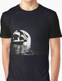 Moonlit Ship Graphic T-Shirt