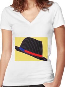 Life In Fedora Women's Fitted V-Neck T-Shirt