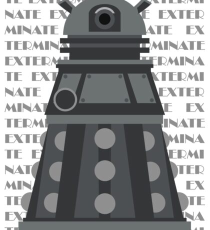 Exterminate Black Sticker