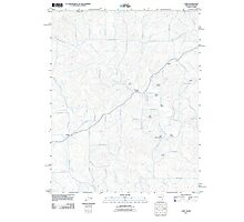 USGS TOPO Map Arkansas AR Camp 20110725 TM Photographic Print