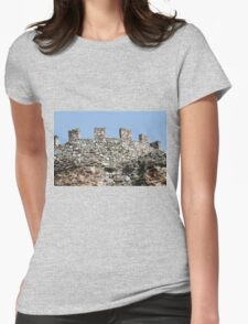 antique ancient walls of castle Womens Fitted T-Shirt
