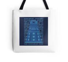 Exterminate Blue Tote Bag
